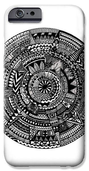 Asymmetry IPhone Case by Elizabeth Davis