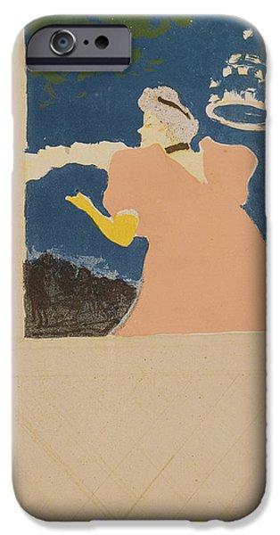 At The Ambassador Theater IPhone Case by Henri de Toulouse-Lautrec
