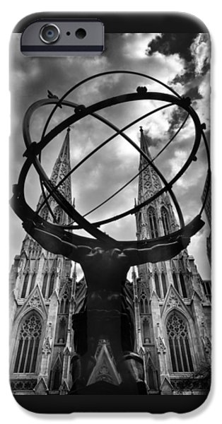 Atlas Holding The Heavens IPhone Case by Jessica Jenney