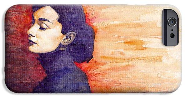 Audrey Hepburn 1 IPhone 6s Case by Yuriy  Shevchuk