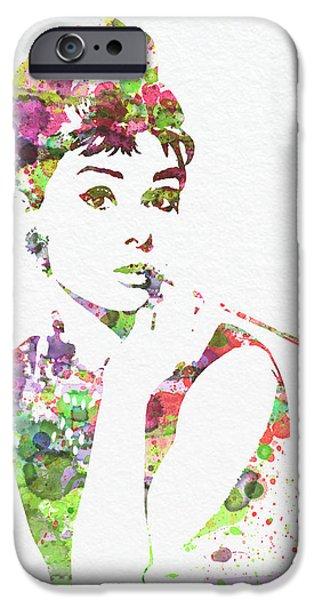 Audrey Hepburn 2 IPhone Case by Naxart Studio