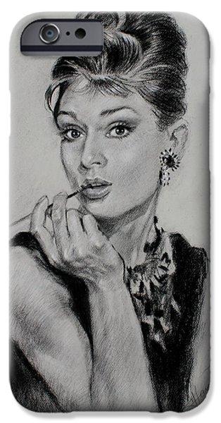 Audrey Hepburn IPhone 6s Case by Ylli Haruni