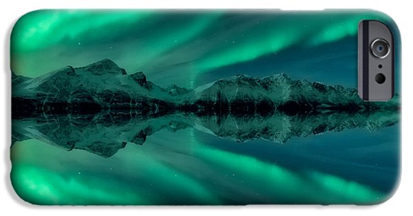 Aurora Square 2 IPhone Case by Tor-Ivar Naess