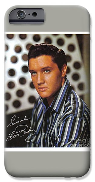 Autographed Elvis IPhone Case by Pd
