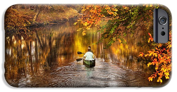 Autumn - Landscape - Exploring The Unknown  IPhone Case by Mike Savad