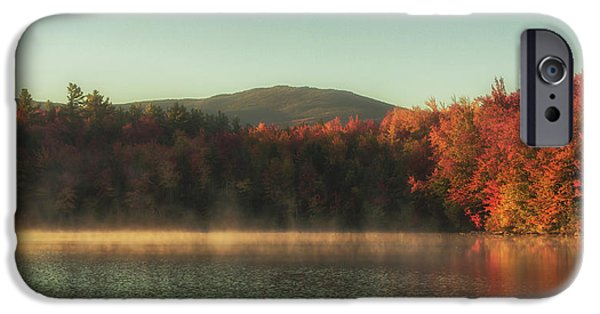 Autumn By The Mountain Lake IPhone Case by Chris Fletcher