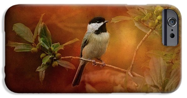 Autumn Day Chickadee Bird Art IPhone 6s Case by Jai Johnson