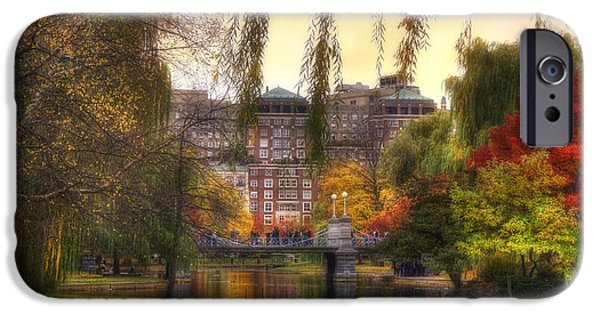 Autumn In Boston Garden IPhone Case by Joann Vitali