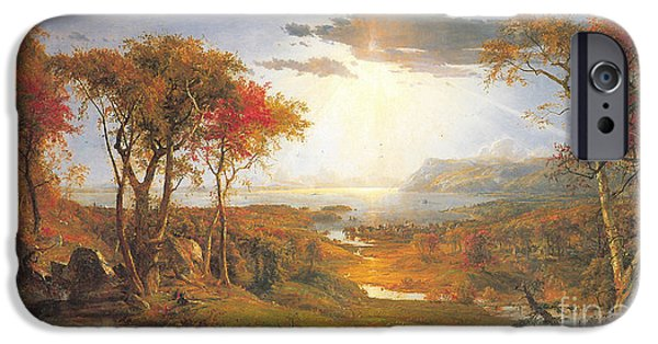 Autumn On The Hudson Rive IPhone Case by Celestial Images