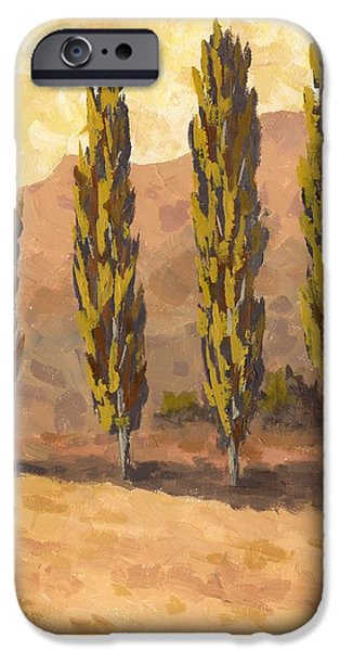 Autumn Poplars IPhone Case by David King