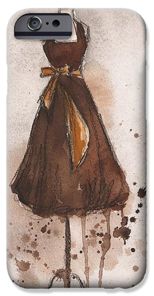 Autumn's Gold Vintage Dress IPhone 6s Case by Lauren Maurer