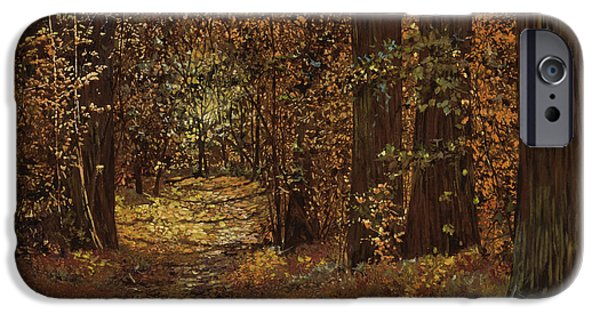 Autunno Nei Boschi IPhone Case by Guido Borelli