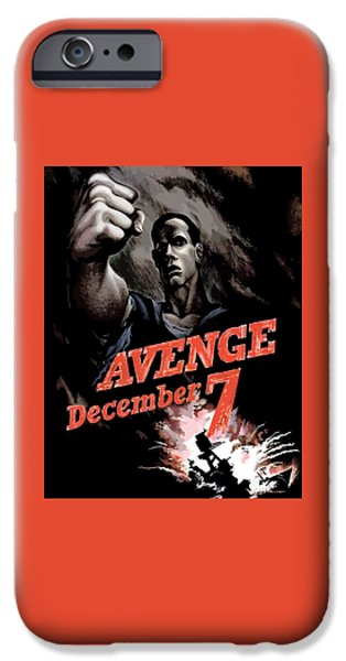 Avenge December 7th IPhone Case by War Is Hell Store