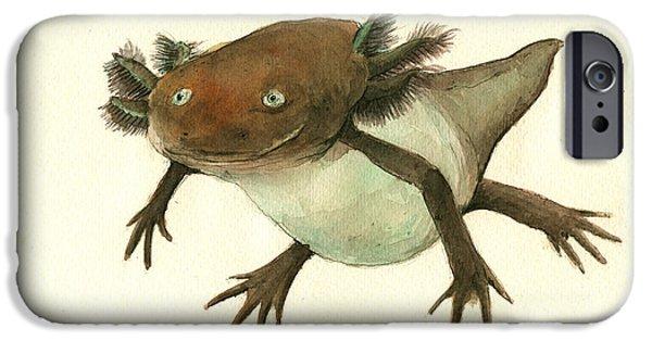 Axolotl IPhone 6s Case by Juan Bosco