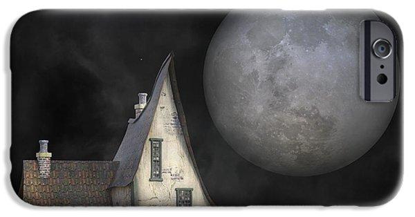 Backyard Moon Super Realistic  IPhone Case by Betsy Knapp