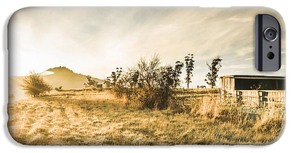 Bagdad Crisp Winter Countryside IPhone Case by Jorgo Photography - Wall Art Gallery