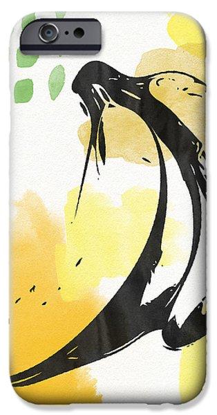 Bananas- Art By Linda Woods IPhone Case by Linda Woods