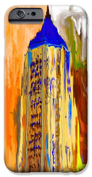 Bank Of America Plaza 230 4 IPhone Case by Mawra Tahreem