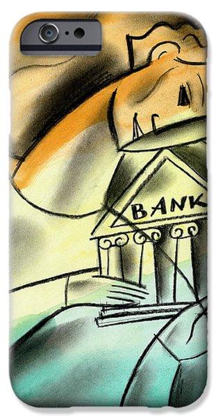 Banking IPhone Case by Leon Zernitsky