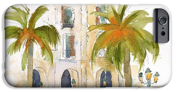 Barcelona Plaza IPhone Case by Pat Katz