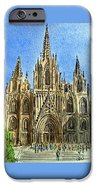Barcelona Spain IPhone Case by Irina Sztukowski