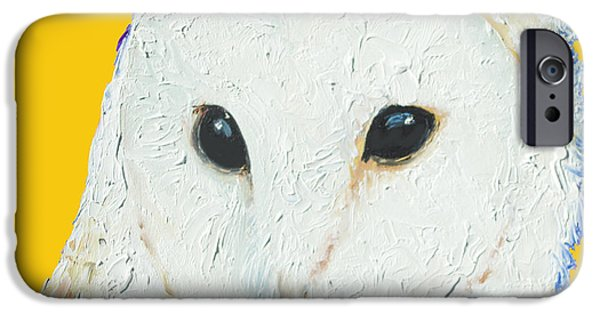 Barn Owl On Yellow Background For The Nursery IPhone 6s Case by Jan Matson