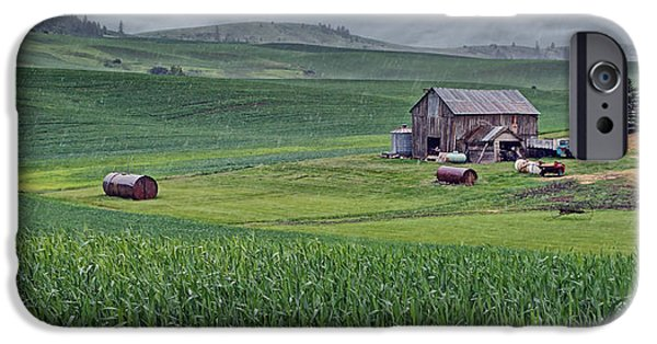 Barn - Rainy Day - Palouse IPhone Case by Nikolyn McDonald