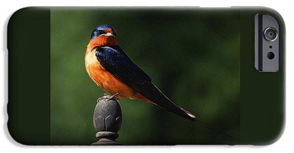 Barn Swallow Digital Art IPhone Case by Ernie Echols
