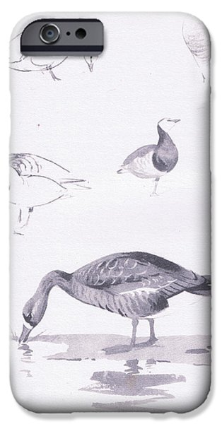 Barnacle And White Fronted Geese IPhone 6s Case by Archibald Thorburn