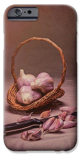 Basket Of Garlic Still Life IPhone Case by Tom Mc Nemar