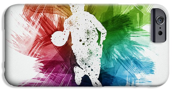 Basketball Player Art 02 IPhone Case by Aged Pixel