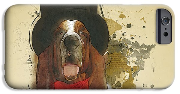 Basset Hound IPhone Case by Bekare Creative