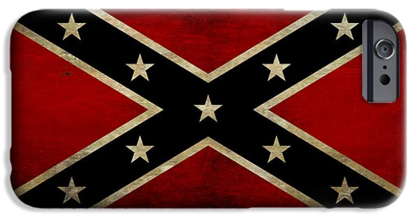 Battle Scarred Confederate Flag IPhone Case by Randy Steele