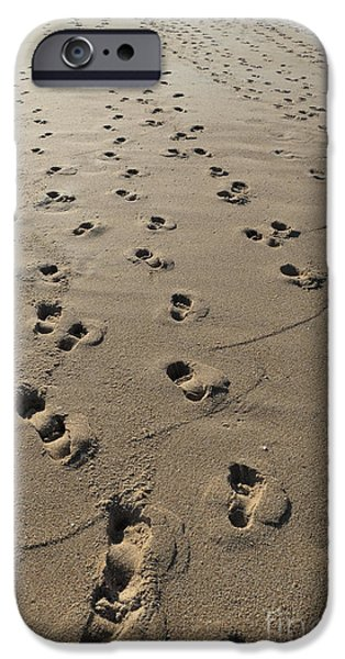 Beach Footprint Trails IPhone Case by Angelo DeVal