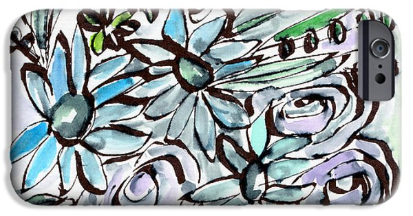 Beach Glass Flowers 2- Art By Linda Woods IPhone Case by Linda Woods