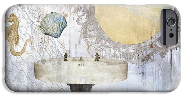 Beach House Bath II IPhone Case by Mindy Sommers