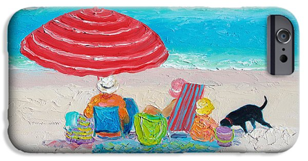 Beach Painting - One Summer IPhone Case by Jan Matson