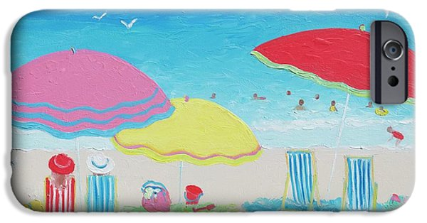 Beach Painting Summer Days IPhone Case by Jan Matson