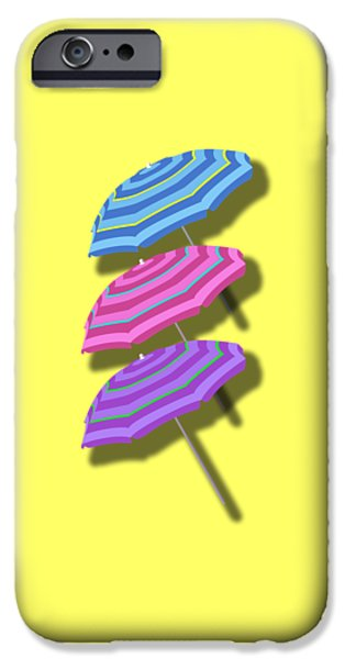 Beach Umbrellas Design IPhone Case by Edward Fielding