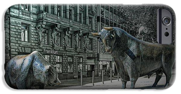 bear and bull Frankfurt IPhone Case by Joachim G Pinkawa
