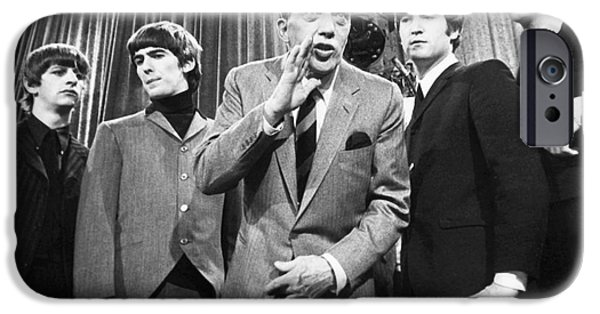 Beatles And Ed Sullivan IPhone Case by Granger