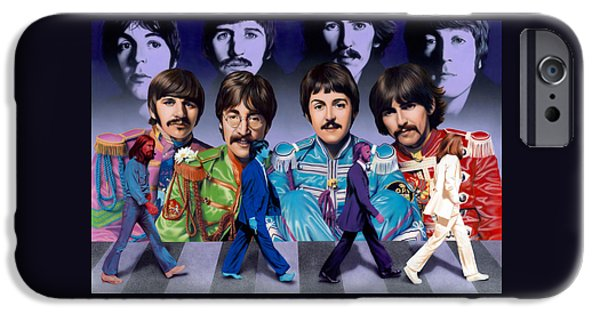 Beatles - Walk Away IPhone Case by Ross Edwards