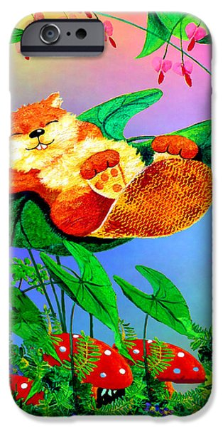 Beaver Bedtime IPhone Case by Hanne Lore Koehler