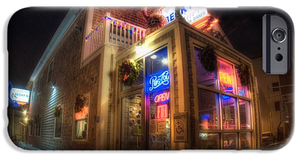Becky's Diner - Vintage Diner - Portland Maine IPhone Case by Joann Vitali