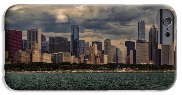 Before The Spring Storm Chicago Lakefront 01 IPhone Case by Thomas Woolworth