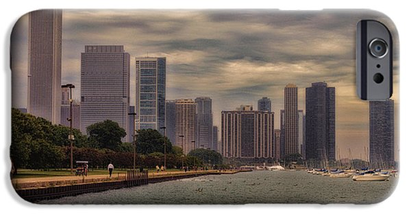 Before The Spring Storm Chicago Lakefront 02 IPhone Case by Thomas Woolworth