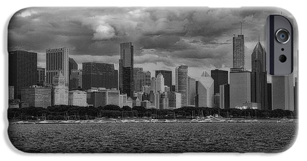 Before The Spring Storm Chicago Lakefront Bw 01 IPhone Case by Thomas Woolworth