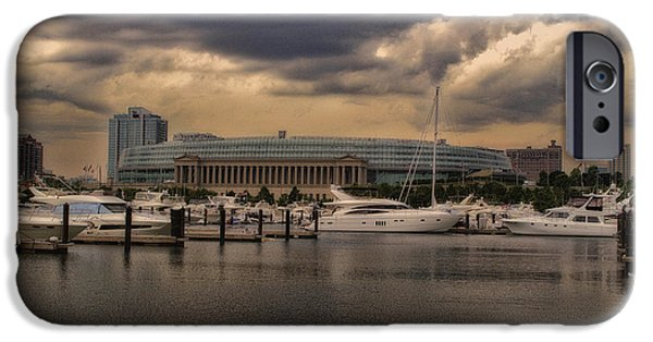 Before The Spring Storm Chicago Soldier Field 01 IPhone Case by Thomas Woolworth