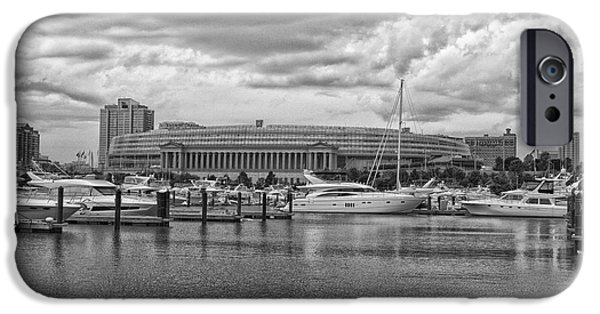 Before The Spring Storm Chicago Soldier Field Bw IPhone Case by Thomas Woolworth