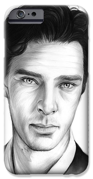 Benedict Cumberbatch IPhone Case by Greg Joens